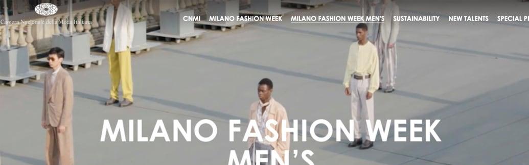 ミラノ・メンズ・ファッションウィーク公式サイトより