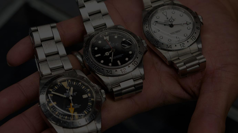 (左から)Ref.16570、Ref.1655、Ref.16570
