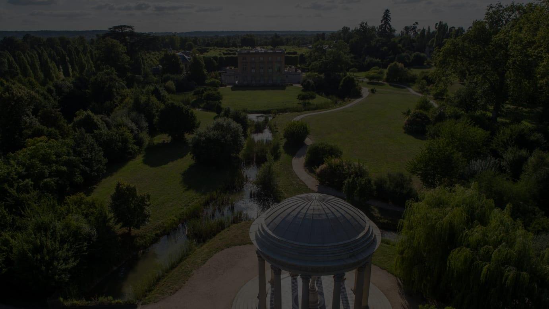 : ©château de Versailles  Thomas Garnier Vue arienne du Temple de lamour au domaine de Trianon