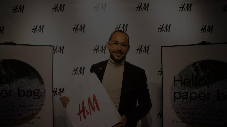 H&Mジャパン代表取締役社長のルーカス・セイファート氏