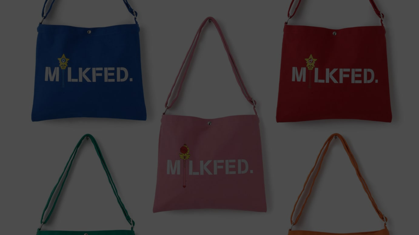 MILKFED. × SAILOR MOON CANVAS SACOCHE(各税込3,240円)