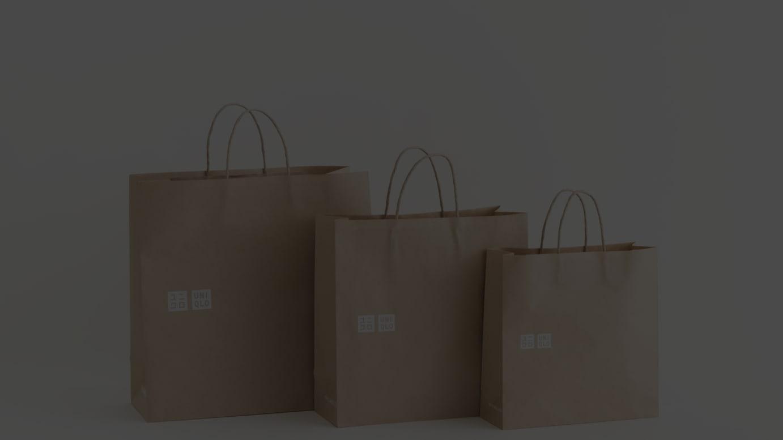 9月から全世界で順次導入する環境配慮型紙製ショッピングバッグ