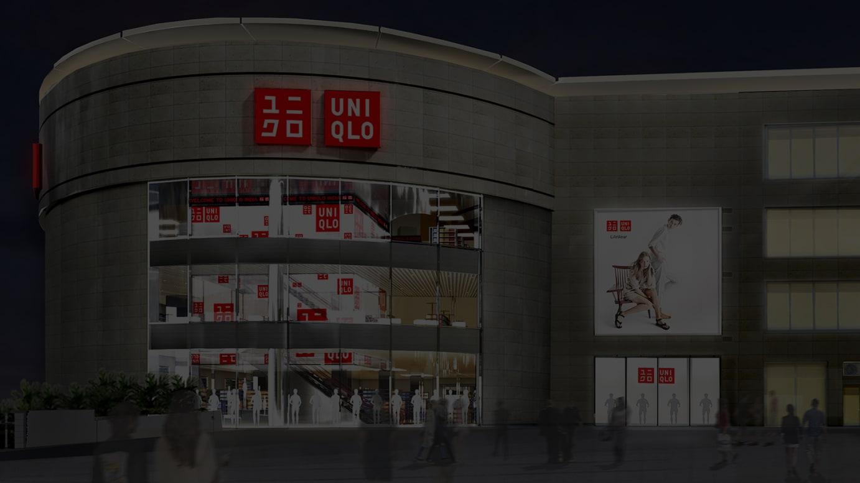ユニクロのインド1号店「アンビエンスモール・バサントクンジ店」イメージパース