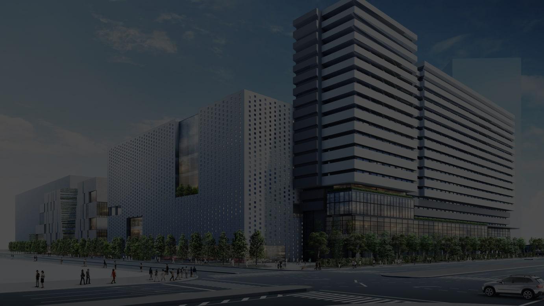 商業別棟(左)ホテル棟(右)外観イメージ