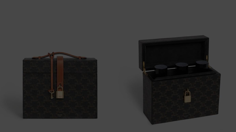 トリオンフキャンバス&ナチュラルカーフスキン 3 パフュームケース(200ml)W22 X H18 X D9CM 69万円