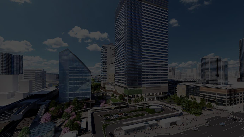 「豊洲ベイサイドクロスタワー」外観イメージ