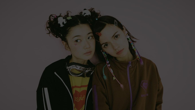 X-girl×SUPER LOVERS コラボヴィジュアル