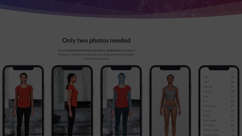 デジタルフィッティングの技術(3DLook より)