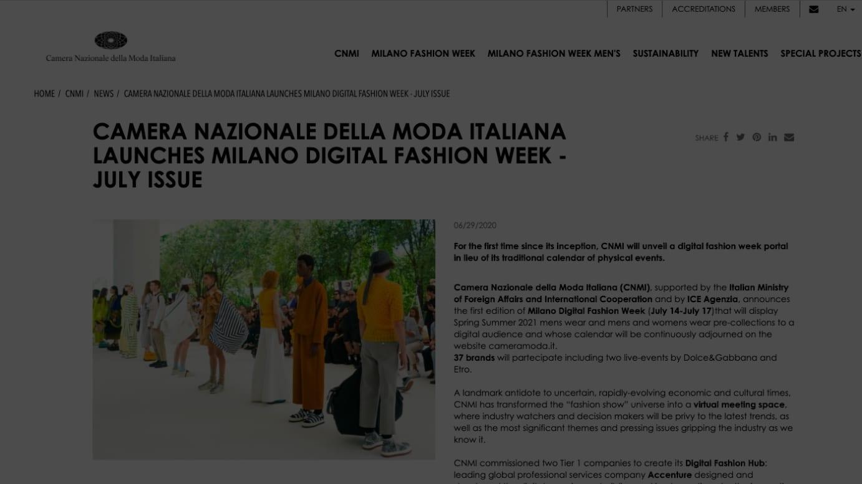 イタリアファッション協会公式サイトより