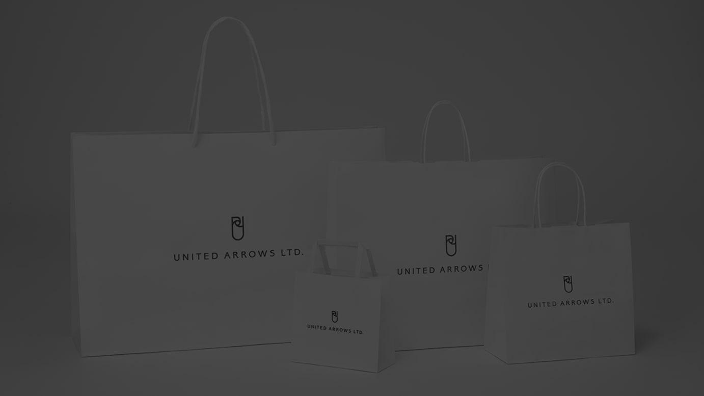 「ユナイテッドアローズ アウトレット」のショッピングバッグ