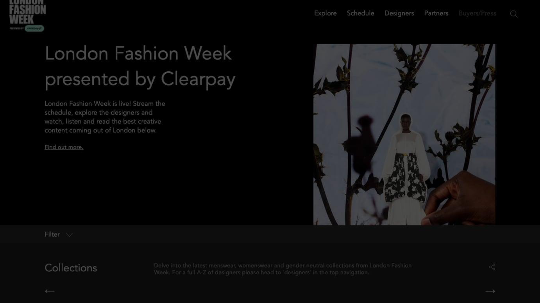 ロンドンファッションウィークの公式サイトより