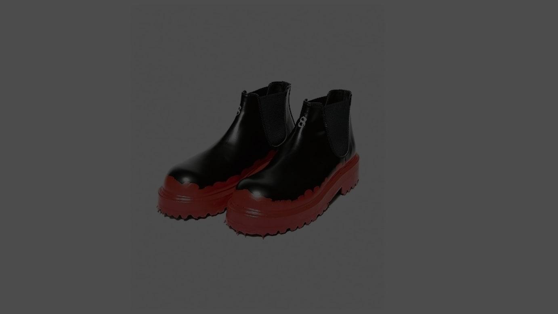 ラバーディップ加工のブーツ