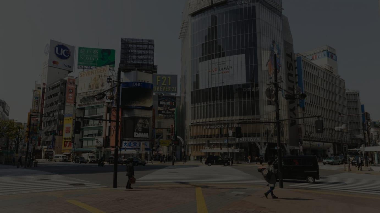 2020年4月8日の渋谷スクランブル交差点の様