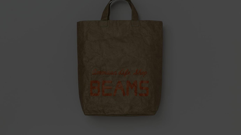 ペーパーショップバックに着想したトートバッグ(税込7700円)