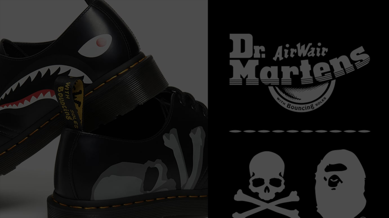 A BATHING APE® X mastermind JAPAN X Dr. Martens 3 HOLE SHOES