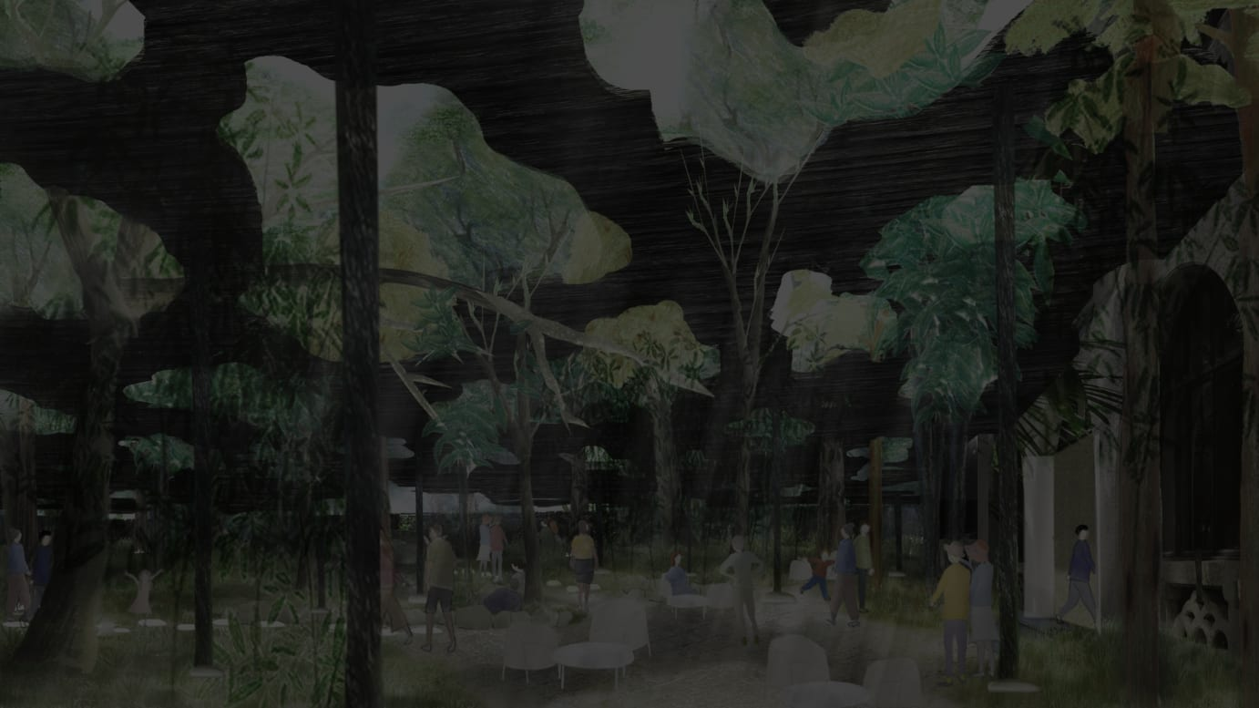 石上純也作品「木陰雲」