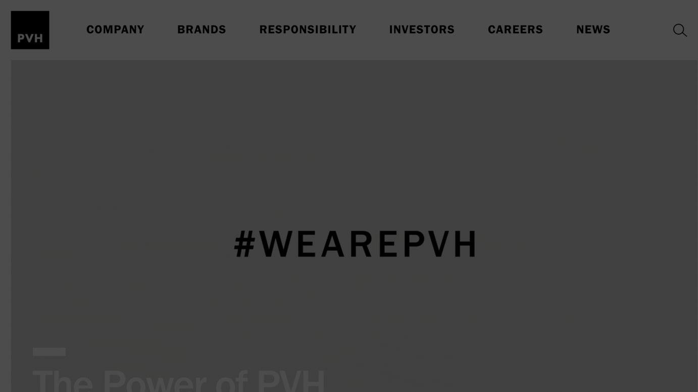 PVH社の公式サイトより