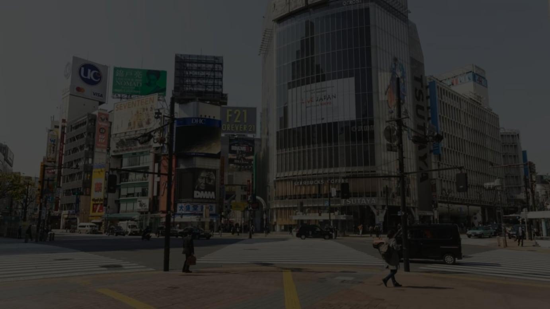 2020年4月8日の渋谷スクランブル交差点の様子