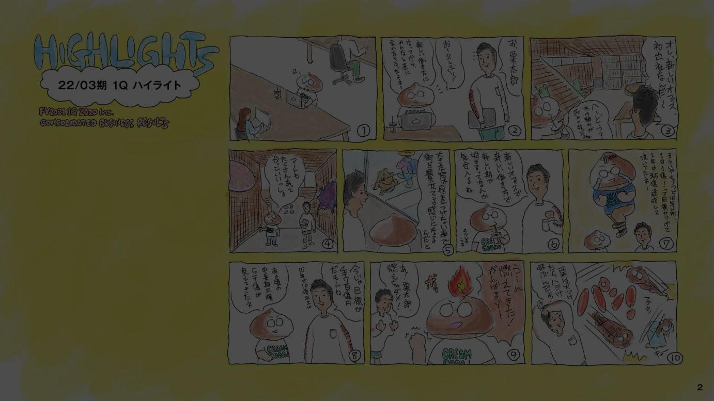 「栗太郎」は澤田社長?(ZOZO 2022年3月期第1四半期決算説明会資料より)