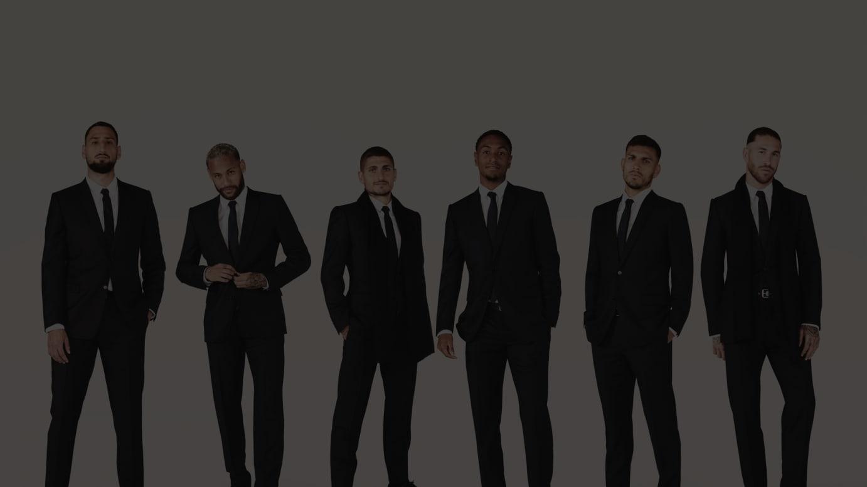 (写真左から)ジャンルイジ・ドンナルンマ、ネイマール、マルコ・ヴェッラッティ、アブドゥ・ディアロ、レアンドロ・パレデス、セルヒオ・ラモス