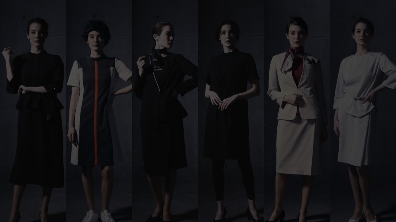 スカートスタイル(左から SENSAI、est、KANEBO、LUNASOL、TWANY、ALBLANC)