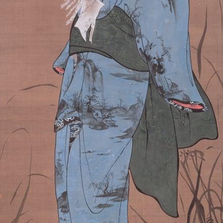 曾我蕭白《美人図》江戸時代(18世紀)、奈良県立美術館、東京展のみ、2週間展示