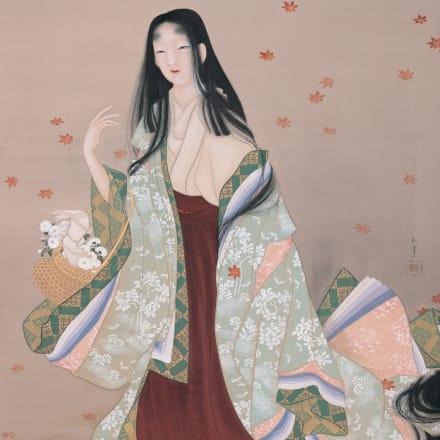 上村松園《花がたみ》大正4年、松伯美術館、半期展示