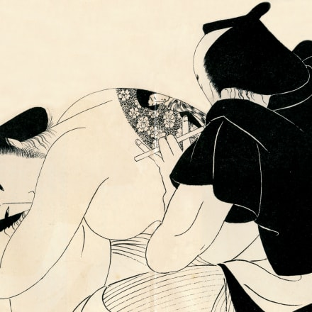 小村雪岱《刺青(邦枝完二「お傳地獄」挿絵原画(『名作挿画全集』のための))》昭和10年、埼玉県立近代美術館、半期展示