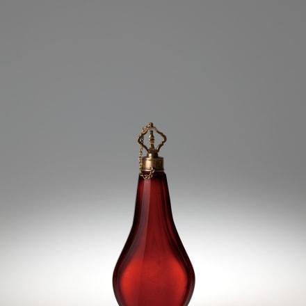 赤色ガラス香水瓶