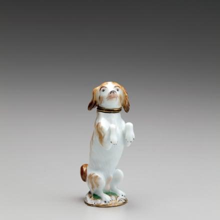 マイセン 色絵香水瓶「子犬」