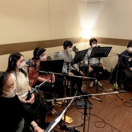 ヴォクスマーナによる収録風景(東京、2020年12月6日) Vox Humana, Recording in Tokyo, 06/12/2020 Image by エルメス