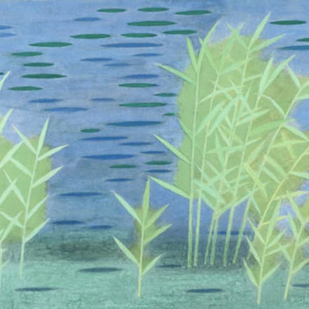 小野竹喬 「池」 1978年