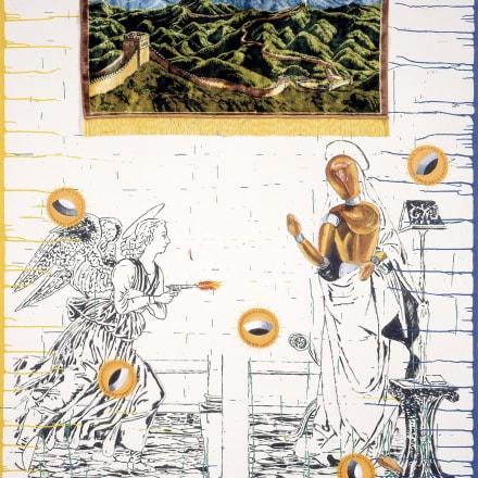 横尾忠則《放たれた霊感》1991年 作家蔵(東京都現代美術館寄託)