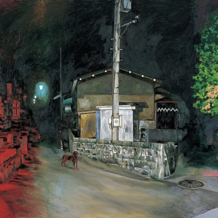 横尾忠則《暗夜光路 赤い闇から》2001年 東京都現代美術館