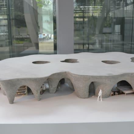 パリ「カルティエ財団現代美術館」での個展で展示された模型