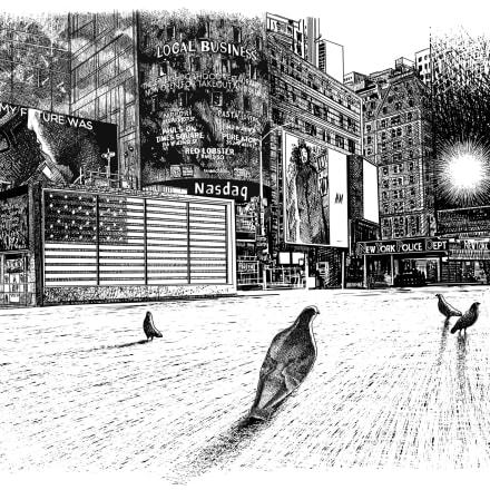 大岩オスカール《タイムズ・スクエア、ニューヨーク》2020  アートフロントギャラリー蔵(特別出品) ©OSCAR OIWA Courtesy of Art Front Gallery