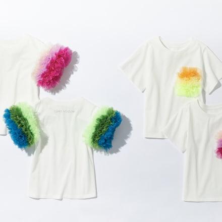 (左から)Tシャツ各3万5200円、Tシャツ各2万7500円