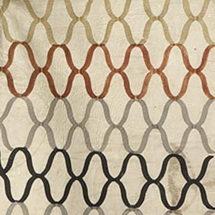 《白地網文様毬散し革羽織》(部分) 江戸時代 18世紀 日本民藝館