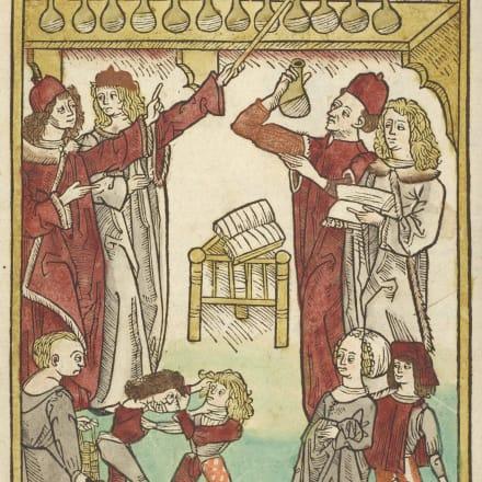 ヤコブ・マイデンバッハ『健康の庭』1491年 大英図書館蔵 ©British Library Board