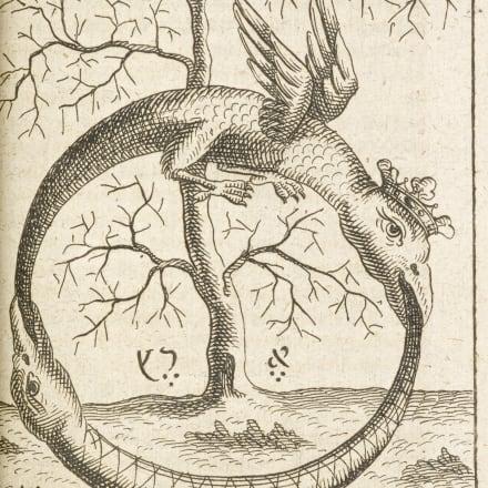 R.アブラハム・エレアツァール『太古の化学作業』1735年 大英図書館蔵 ©British Library Board