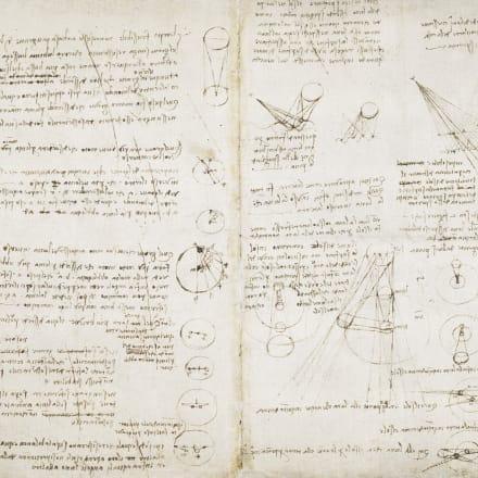 レオナルド・ダ・ヴィンチ「天体にまつわるメモとスケッチ」1506-1508年頃 大英図書館蔵 ©British Library Board