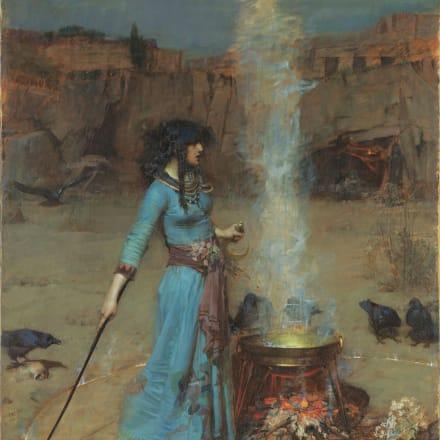 ジョン・ウィリアム・ウォーターハウス《魔法円》1886年 油彩/カンヴァス テート蔵 ©Tate, London 2019