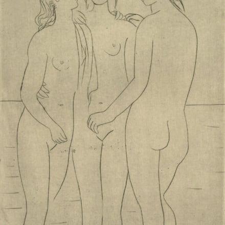 「三人の浴女Ⅰ」ドライポイント 1923年