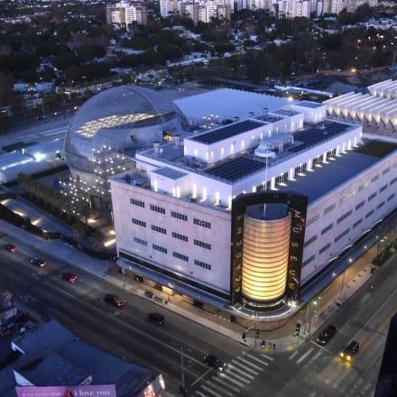 アカデミー映画博物館の空撮画像 ©Academy Museum Foundation