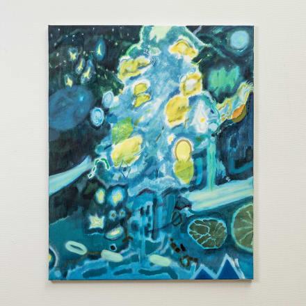 柏原由佳「Lemon Tree」2020年 アクリル、油彩、キャンバス