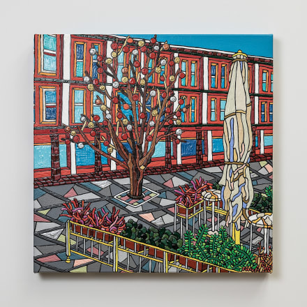 Ryu Itadani「Walter-Benjamin-Platz」2020年 Acrylic on Canvas
