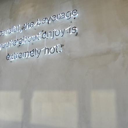 壁に飾られたメッセージ