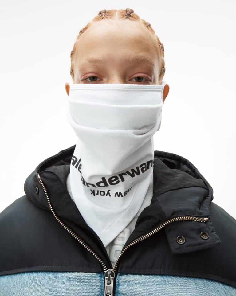 「Logo bandana mask」ホワイト(税別6000円)