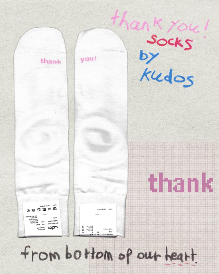KUDOS THANK YOU! SOCKS PROJECT