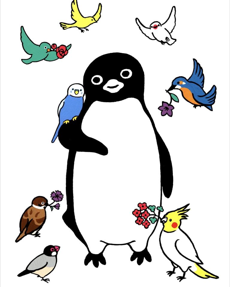 「ペンギン花鳥園」版画